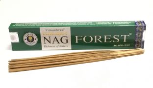 Vijayshree Golden Incense Sticks - Nag Forest (15g = 15 sticks approx.)
